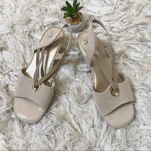 Life Stride 7W Strappy Nude Sandals
